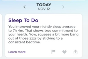 UP3 Sleep tip