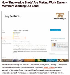 Tonkin & Taylor Knowledge Shots webinar