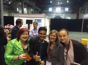 With Vanessa North (MC), Sunder Ramachandran and Mara Tolja