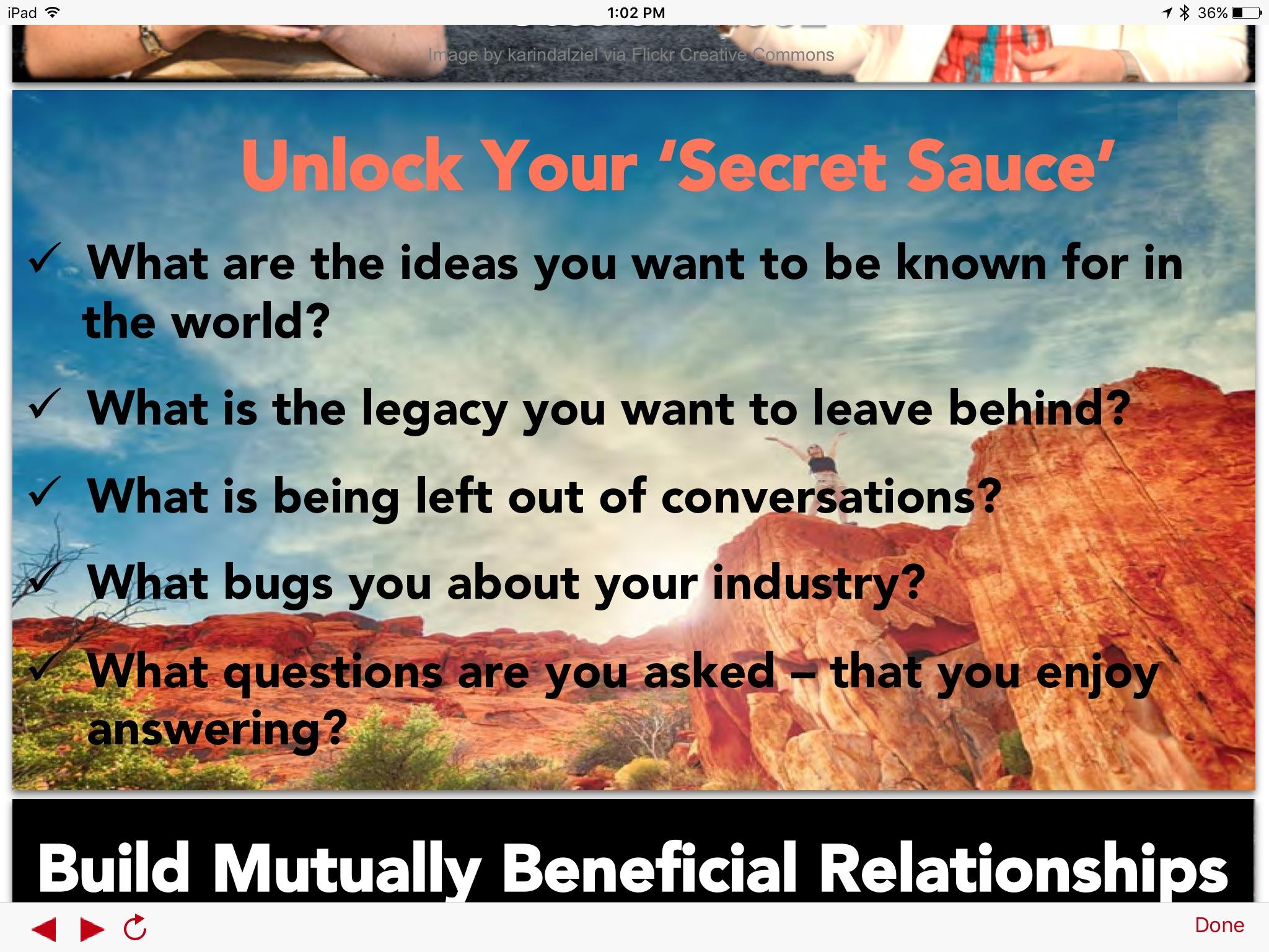 Thought Leadership Secret Sauce