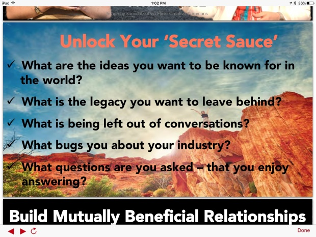 Thought Leadership Secret Sauce